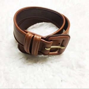 COACH Brown Leather Retro Waist Belt
